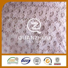 Textile supplier Knit Clothing flower lace fabric for dress
