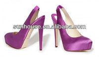 Lady high heel wedding shoes club formal shoes