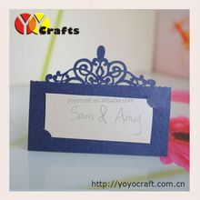 2015 Fancy popular high end card table card laser cut paper table name card