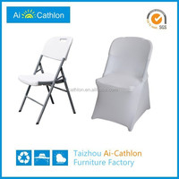 Heavy Duty plastic folding chair for church with lightweight