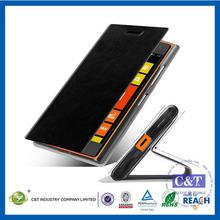 Venta al por mayor c&t atractivo tipo de libro de cuero caso para nokia lumia 730