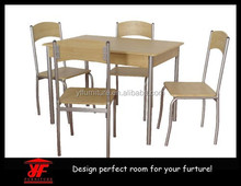 Made in China beech MDF Metal Frame wooden dining table