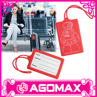 Airline luggage tags silicone luggage tag strap eco-friendly material