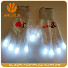Party show led gloves, led finger flashing gloves for halloween costumes