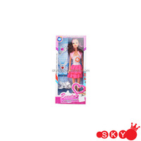 2015 Fashionable 11 inch solid barbie doll with luxury skirt for sale chenghai toys dress up doll set
