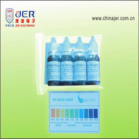 cheap price ph test liquid drops kit with color card