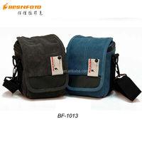 Besnfoto BF-1013 Small size Mirrorless Canvas Trendy dslr Camera Shoulder Bag