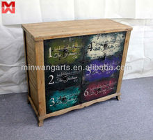 Living room cabinet with 6 color scaleplate drawers