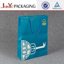 Boutique blues large logo kraft paper bag manufacturers luxury tea paper bag