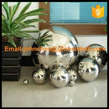 Customized sizes large / small mirror polish hollow metal ball
