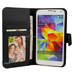 Leather flip case for Samsung Galaxy s5,cellphone case for Samsung Galaxy S5