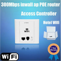 300Mbps 11N in wall POE Wireless Access Point for hotel, support WLAN controller and VLAN, similiar like Tenda Model