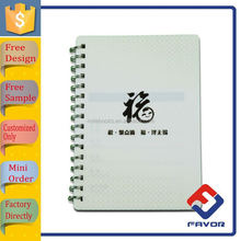 promotional gift plastic spiral coil binding notebook
