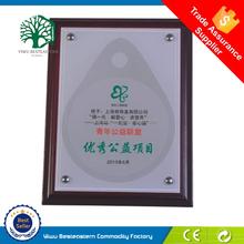 Manufacturer blank shields wooden metal plaque custom