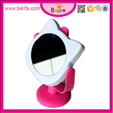 Kit de soporte de mesa espejo cosmético belleza gatito de la historieta maquillaje