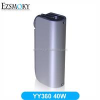 Hot Sale YY 360 40w Box Mod,2600mah Capacity YACYA YY360 Electronic Cigs 510 Battery