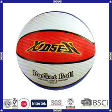 hot sell promotional customized logo soccer ball and rubber basketball