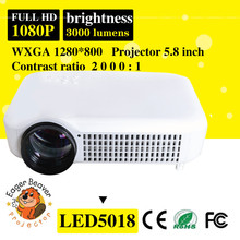 5.8 inch hd led video projector support 3000 lumens 1080p Home Theater Projector