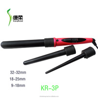 PTC heater ,hair curling iron with 3 barrels /hair curler