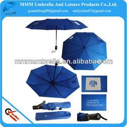full fiberglass windproof printed gift 3 foldable umbrella