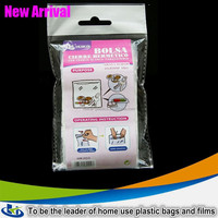 Zip lock Plastic Bag With Writing Panel, Polyethylene Zipper Bag ldpe film for zipper bag