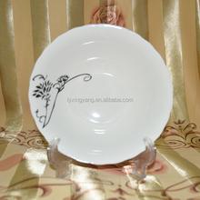 Hot vente en gros vaisselle en céramique, Porcelaine assiette à soupe carré avec rond corner-002
