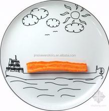 interesting cartoon porcelain plate