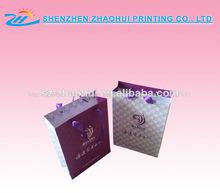 elegante bolsa de papel comercial con el nombre de marca