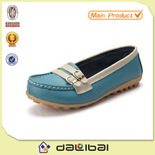 multiply color classy leather women loafers casual women flat shoes