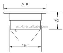 IPX8 Aluminum 72W LED underwater fountain floodlight/ RGB led light