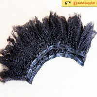 """halo hair extension wholesale High end products 16""""-24"""" on stock :6A kinky clip in hair meche"""