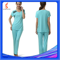 Soft Short Sleeve Sexy Ladies Woman Plus Size Women Sleep Wear Set