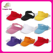 Fashion Ourdoors Sportswear wholesale high quality sun Visor Golf Hat with Velcro adjustable