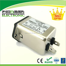 Rated current:1A to 10A screw hole EMI Filter Low Pass PE8600 EMC filter