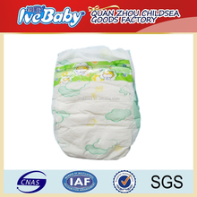 best price PE light green printed soft baby diaper manufacturers in china