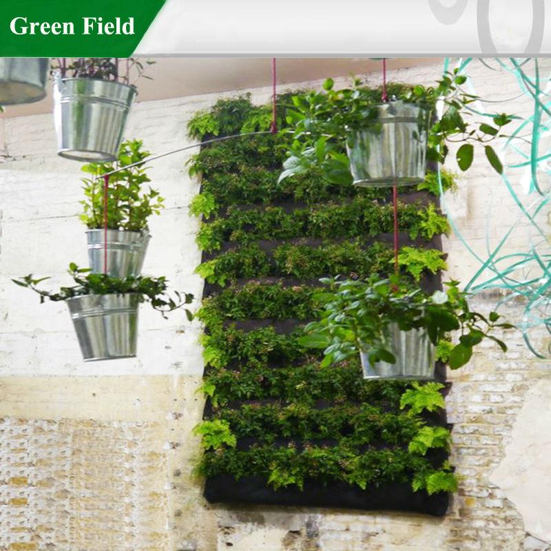 Groene veld verticale tuin tuin levende muren plantenbak for Verticale tuin systeem