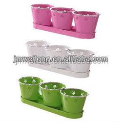 mini metal flower pot