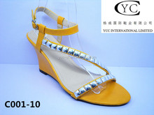 new product wedge sole with copetitive price woman wedge sandals 2015 wedge sole