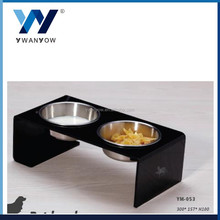 Convenient double dinner stainless steel pet bowl manufacturer