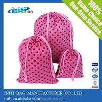 2015 Wholesale Eco friendly polyester bag or nylon drawstring backpack