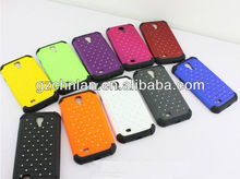 Good protective rhinestone bling cell phone case cover for Samsung Galaxy s4, 12 nice colors