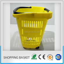shopping basket with ce and iso certification/high quality hand held supermarket shopping baskets
