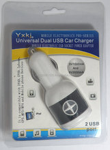 Universal car charger for IPAD/IPOD/Iphone/PDA/mobile phone