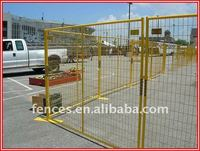 hot dipped galvanized and polyester powder spray temporary fence