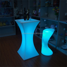Colors changing rechargeable PE plastic furniture hotel garden