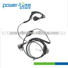 Data radio headset with G shape Ear-receiver and curl wire for all Radio.