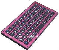 pink leather case bluetooth keyboard for ipad 2