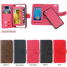 Fashion Phone Accessory PU Leather Flip Wallet for iPhone 6 PLus, Mobile Accessory For iphone 6 plus Case Cover
