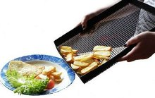 Grilling Mesh - Non-stick Grill Mesh Cooking Pan - Dishwasher safe & Reusable, for indoor or outdoor BBQ use
