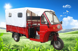 Factory directly sales three wheel cabin motor vehicle/ passenger tricycle with roof
